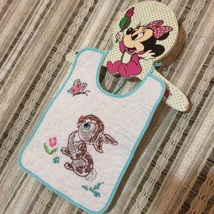 Vintage Hand Embroidered Disney Thumper Baby Bib